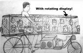 Galería de arte con las paredes móviles en bicicleta