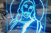 Jesús LED Acrilico (plexiglas)