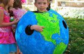 Halloween traje/geografía lección del globo