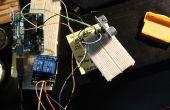 Dispara un relé con un sensor de ultrasonidos SR04