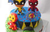 Superhéroes de Marvel de fondant