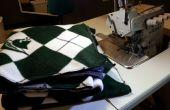 Manta de lana fácil con una remalladora