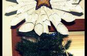 Estrellas de papel brillante árbol Topper