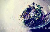 Ensalada de algas crudivegana