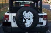 Halloween del neumático cubierta