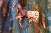 Pintura con plantilla de seda