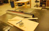 Cómo hacer un brazo de empuje para la mesa de la sierra