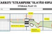 Steampunk / Warcraft combate caza Rifle con munición de revólver-estilo tambor