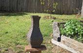 Florero de jardín Chequer placa de acero