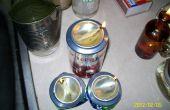 Usando aceite de cocina usado para las velas de supervivencia