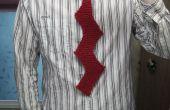 Una corbata de Zig-Zag de punto