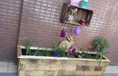 Plantador de la plataforma de madera
