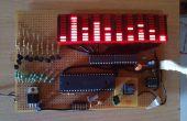 Banda de LED 10 100 MSGEQ7 de atmega32 de espectro de Audio con pico sostenga y caer
