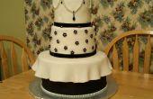 Elegante pastel blanco y negro