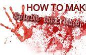 Cómo hacer sangre falsa comestible
