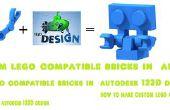 Cómo hacer compatible con ladrillos lego personalizado en autodesk 123D diseño