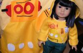 Robohoodie para las muñecas de niñas americanas