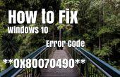 Cómo solucionar código de Error de Windows 10 0x80070490
