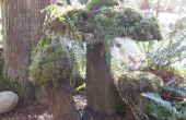 Hacer un hongo de musgo: arte de la yarda
