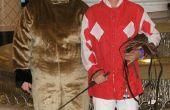 Nuestros trajes de fiesta de Halloween - caballo y jinete de raza
