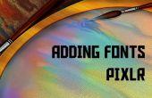 Descargar e instalar a fuentes en Pixlr gratis!