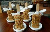 Caramelo paletas de manzana