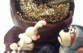 Sostenedor de esponja de cobre amarillo de conejito asesino para soldadores