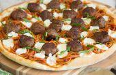 Espaguetis y albóndigas Pizza