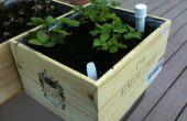 Caja de vino drenaje jardineras