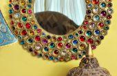 Espejo de cartón Boho Bejeweled