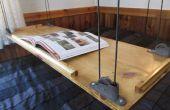 Paracord y polea colgante mesa