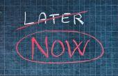 Cómo vencer la procrastinación a permanecer productivos