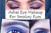 Maquillaje de ojos Smokey de cenizas ojo