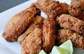Asia alitas de pollo fritas (productos lácteos y huevo gratis)