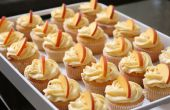 Cupcakes de melocotón con Frosting de queso crema de durazno