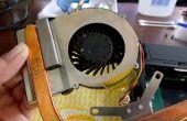 Cómo limpiar Laptop ventilador y aplique pasta térmica en la CPU y GPU