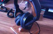 Soporte de madera para auriculares