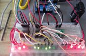 Reloj binario de Arduino (horas, minutos y segundos)