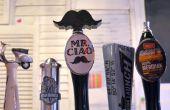 3D impreso bigote manija de grifo de cerveza