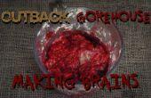 Hacer falsa comestible cerebros a salpicaduras para su película de horror.