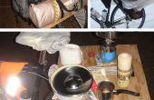 La mesa de la bicicleta (aka Rackatabla), o que viaje con su mochila de senderismo en bicicleta