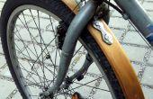 Defensa de madera bicicleta