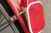 Solar powered luz de bicicleta trasera vintage