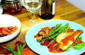 Pan frito lubina con verduras a la brasa | Cocinando con Benji