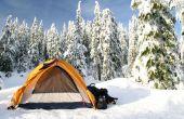 Cómo mantener caliente en un campamento de invierno
