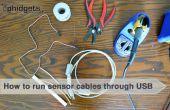 Cómo instalar Cables de Sensor a través de Cables USB