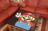 Super Mario mosaico mesa mesa cubierta