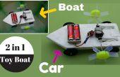 Cómo hacer un barco de juguete 2 en 1 (barco + coche) - juguete casero