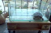 Mesa de palet de acuario - con ruedas