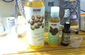 Lavado de cara de aceite natural